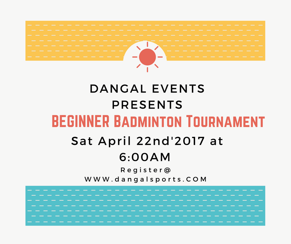 Badminton Tournament invitation