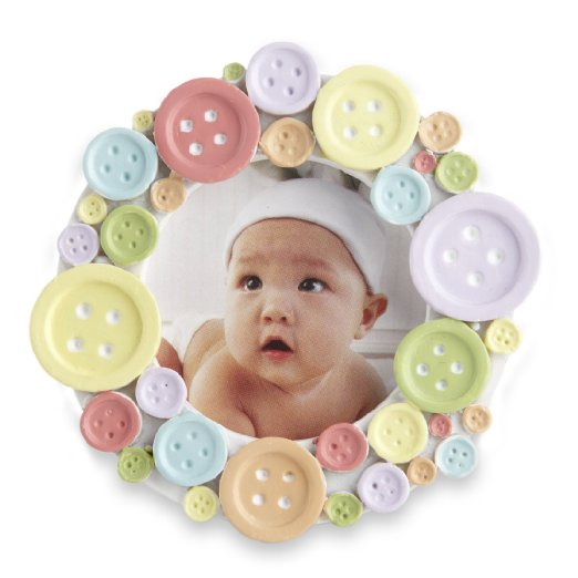 Round baby Frame Cute as Button