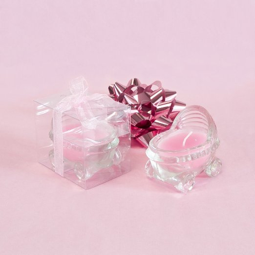 Glass Baby Stroller Scented Candle