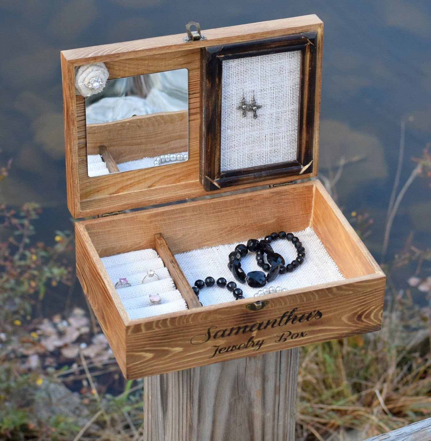 Personalized Jewelry box engraved