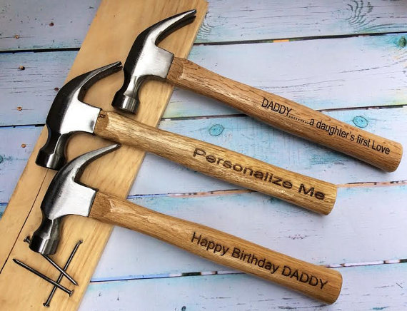 Engraved and personalized hammer