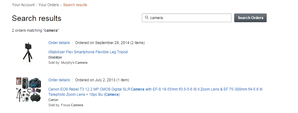 DSLR camera order for wife
