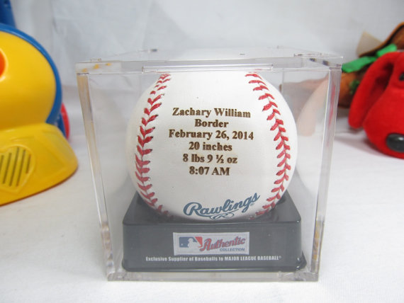 Engraved personalized Baseball ball