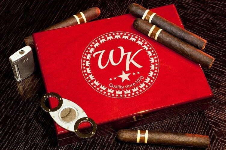 Engraved monogrammed Cigar Box Kit