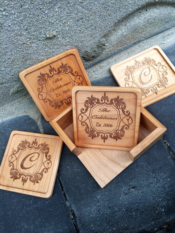 engraved coaster set