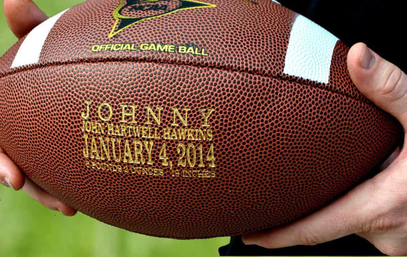 Engraved personalized Football