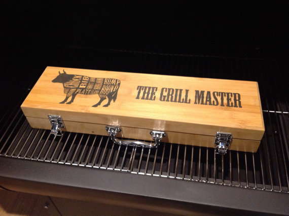 Engraved personalized Grill Set