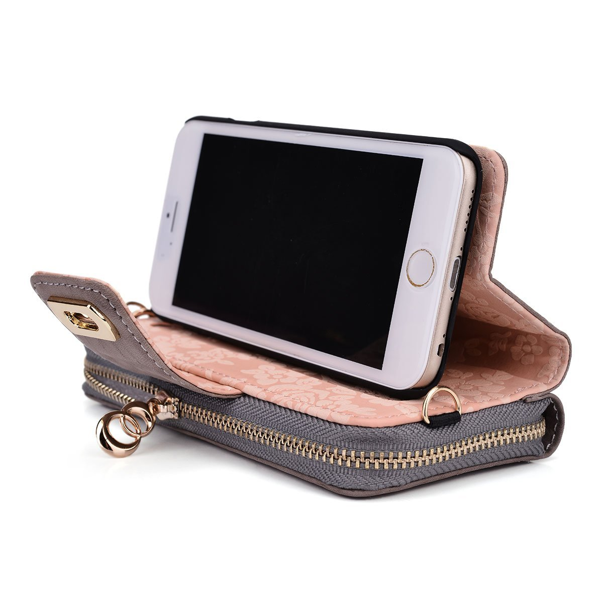 Kroo Genuine Leather wallet case for iphone 6 as gift to your wife