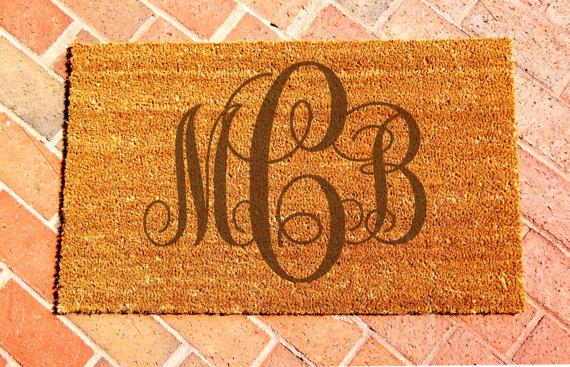 Engraved monogrammed Door mat