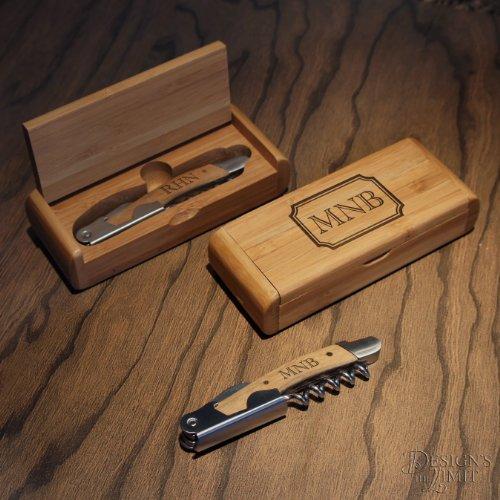 Engraved Beer Wine Opener Set