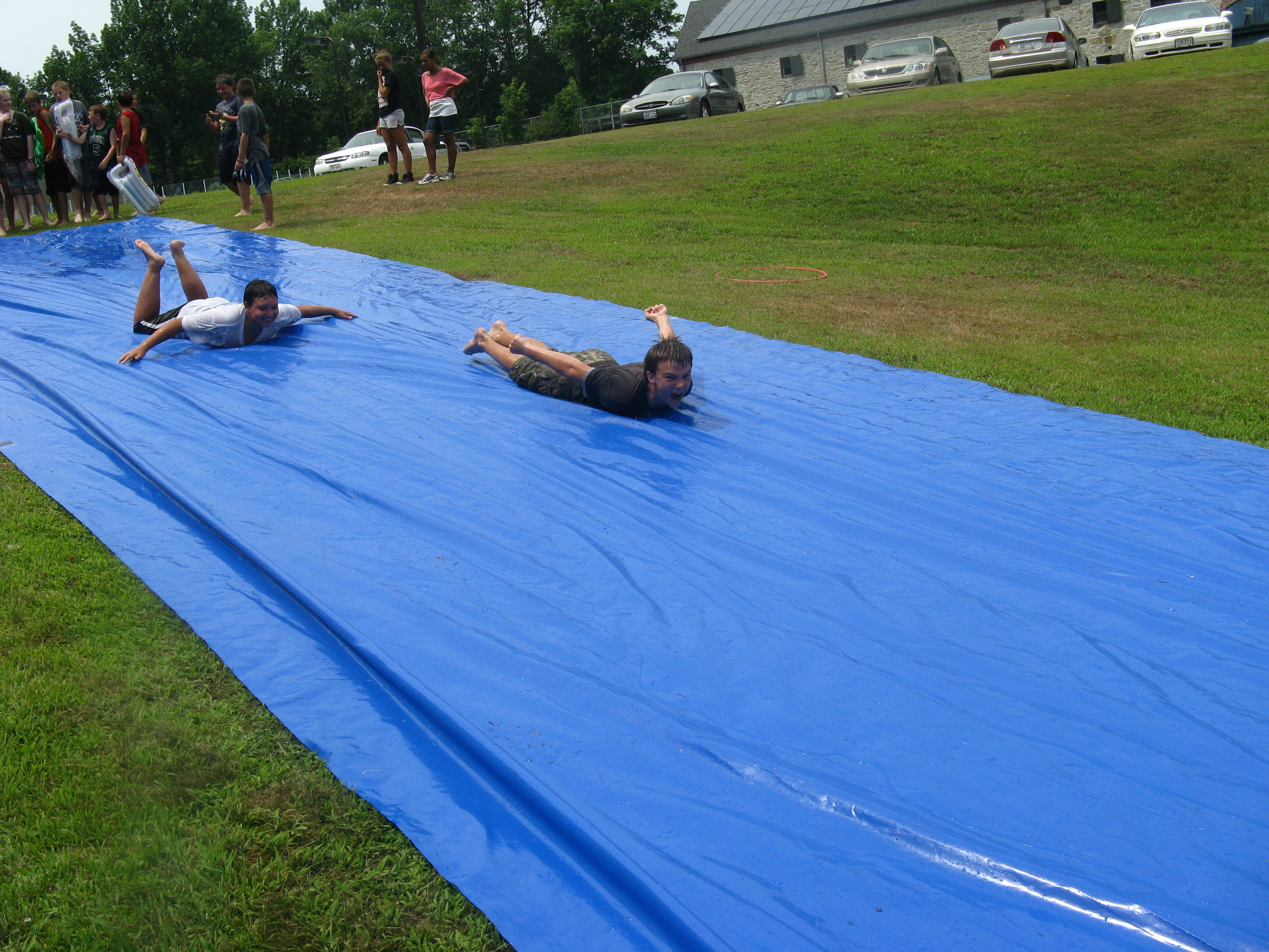 slip and slide Party game