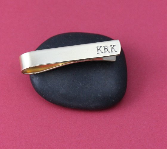 Engraved Personalized Tie Clip for groomsmen