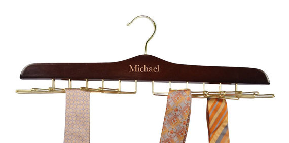 Engraved Personalized with name Tie holder