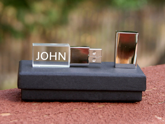 Engraved usb flash drive as gift