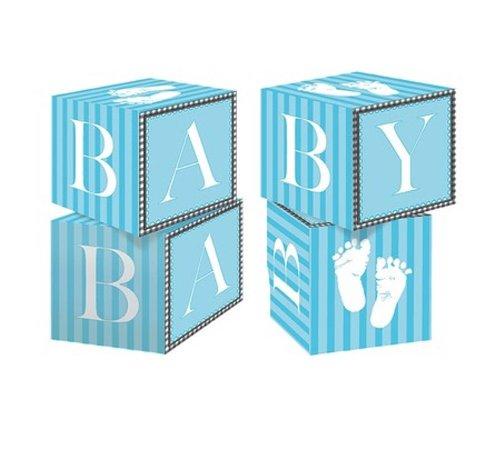 Baby Shower Centerpiece blocks