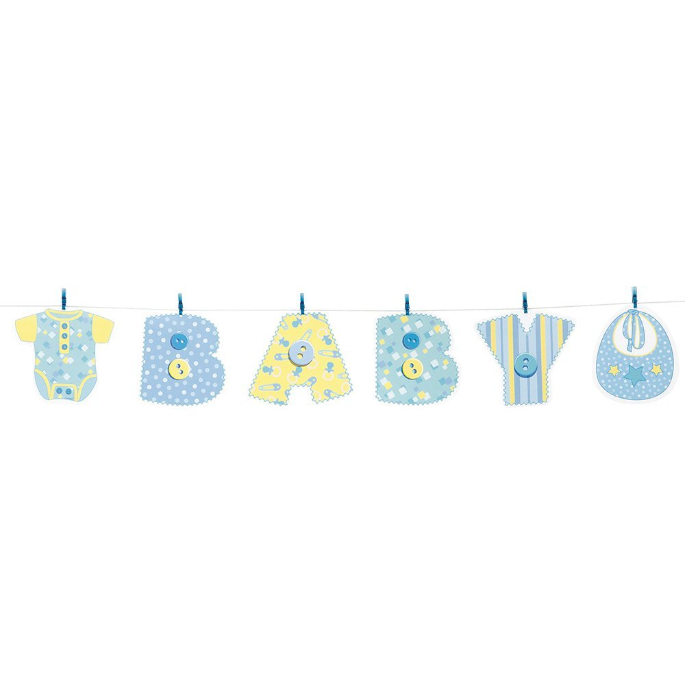 stiching baby shower clothesline banner