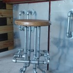 Bar stool from pipes