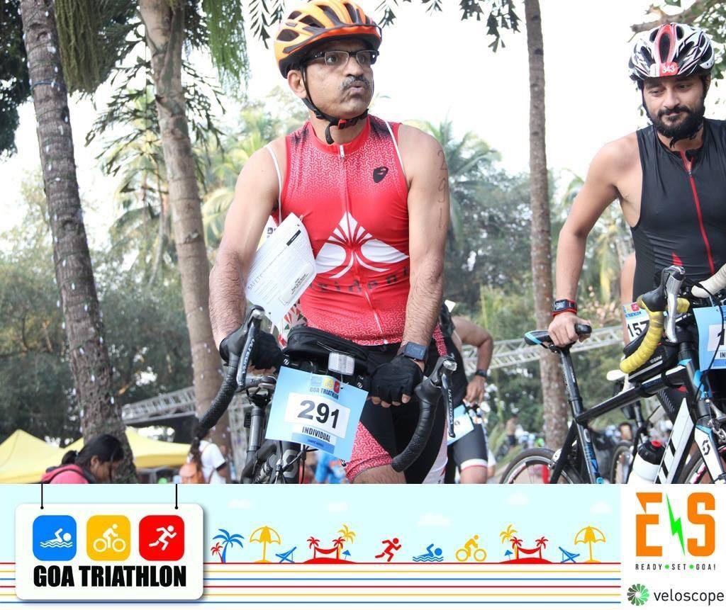 Goa Triathlon participant