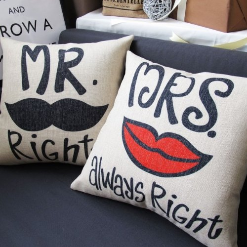 Mr And Mrs Pillow For As Good Wedding Gifts Indian Bride Groom